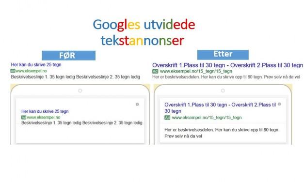 10 ting du burde vite om Googles utvidede tekstannonser